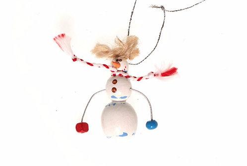 Маленький сніговик на мотузочці / Small Snowman Ornament
