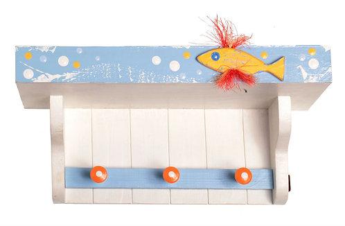"""Поличка-вішалка """"Рибка"""" / Shelf With Hooks """"Fish"""""""