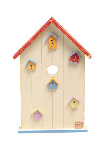 Велика ключниця зі шпаківнями / Big Colorful Birdhouse Key Holder