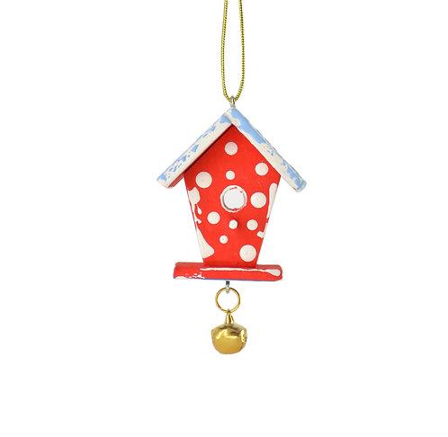 Маленька двостороння шпаківня на мотузочці / Small Two Sided Birdhouse Ornament