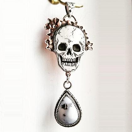 Stars Skully Necklace
