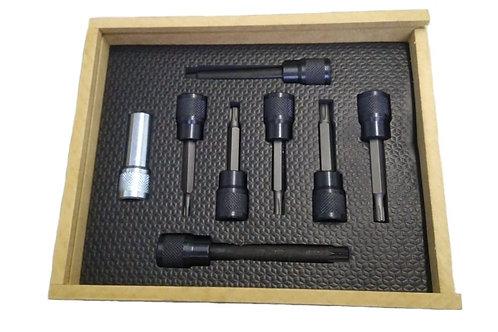133 - Descrição: Conjunto de 8 chaves para cabeçotes.