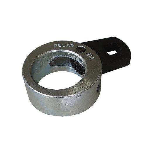 210 - Ferramenta p/ braço oscilante da caixa de direção.