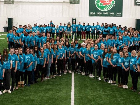 'Go Green, Go White, Go Teal': Human teal ribbon ends It's On Us week