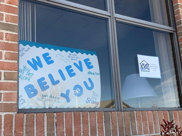 We Believe You in window