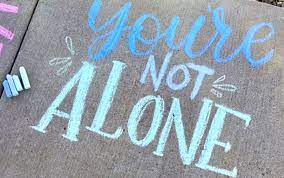 Sidewalk Chalk Message