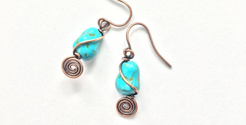 Turquoise Chips & Spiral