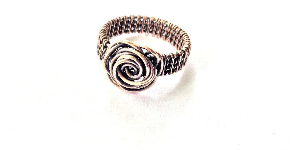 Rosette Ring Sz 8