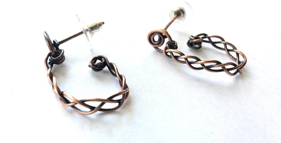 Braided Copper Half Loop