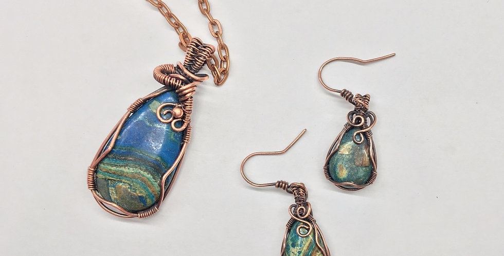 Sea Sediment Jasper Teardrop Set