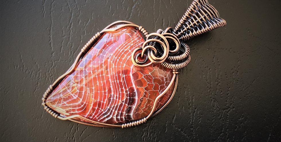 Striped Agate Heart