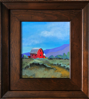 Red Barn framed