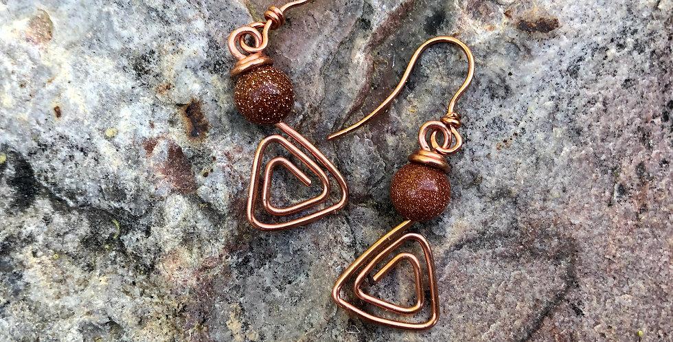 Goldstone in Bright Copper