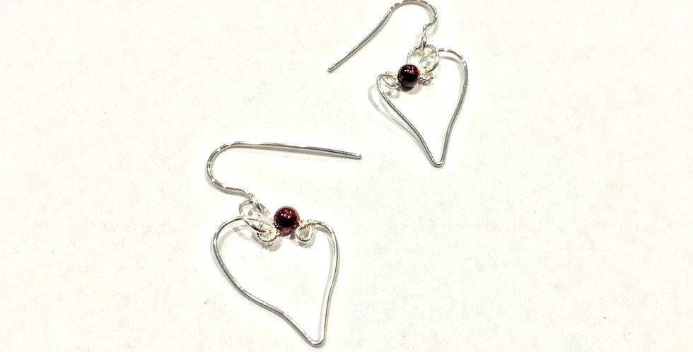 Sterling Silver & Garnet Beads