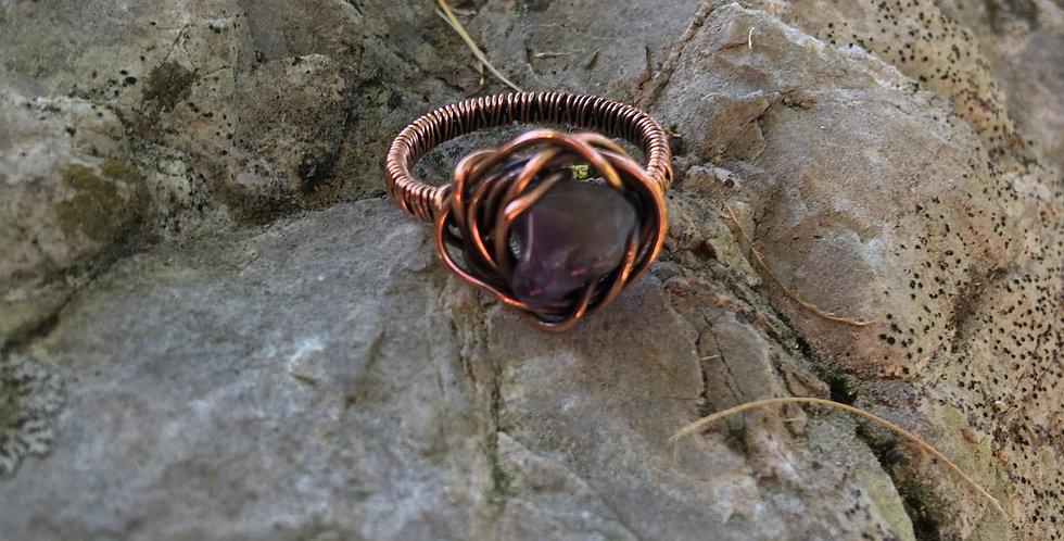 Amethyst Nugget Ring Sz 6 1/2