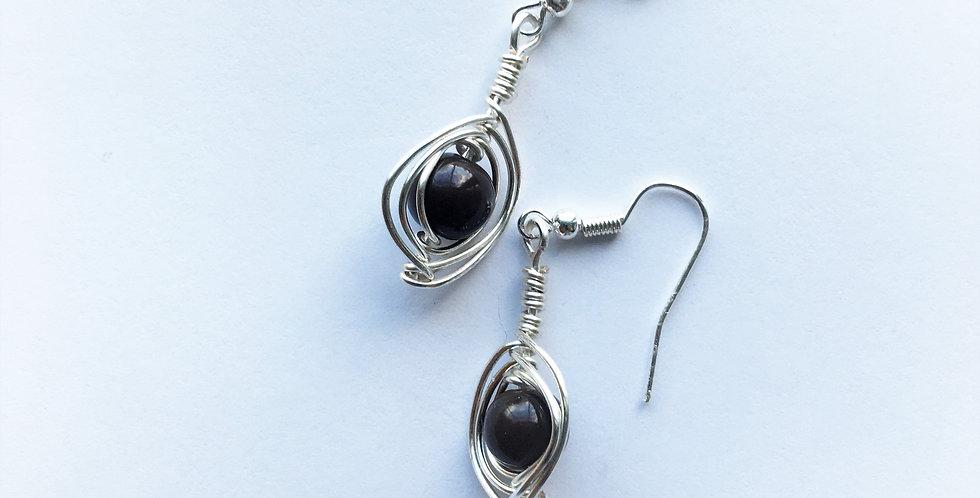 Dark Brown Glass beads