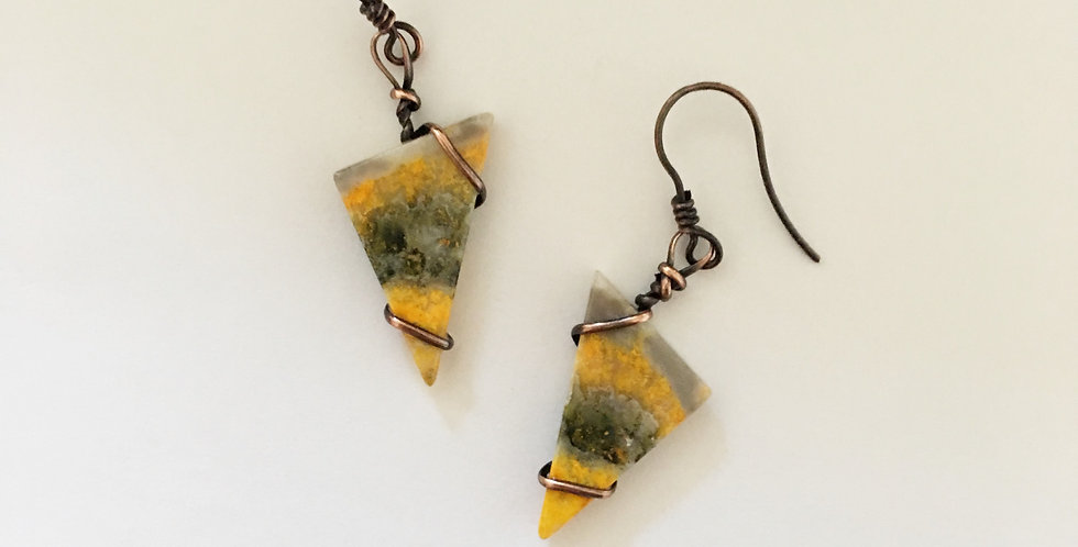 Bumble Bee Jasper Triangles