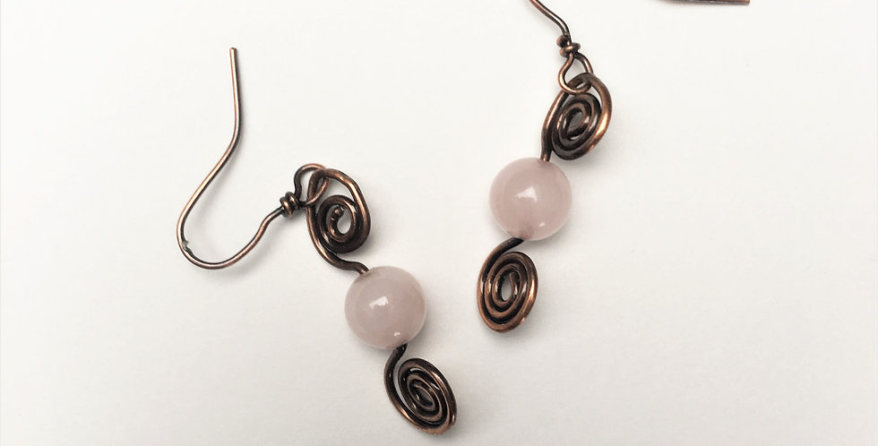 Rose Quartz & Double Spirals
