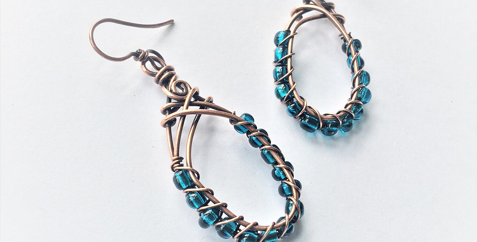Tall Loops with Glass Beads