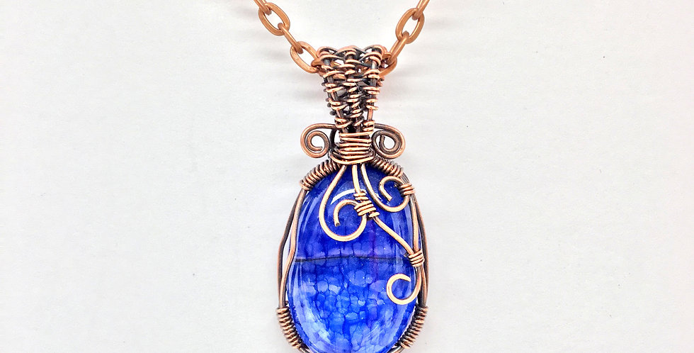 Blue Dragon Vein Agate Small Oval 3