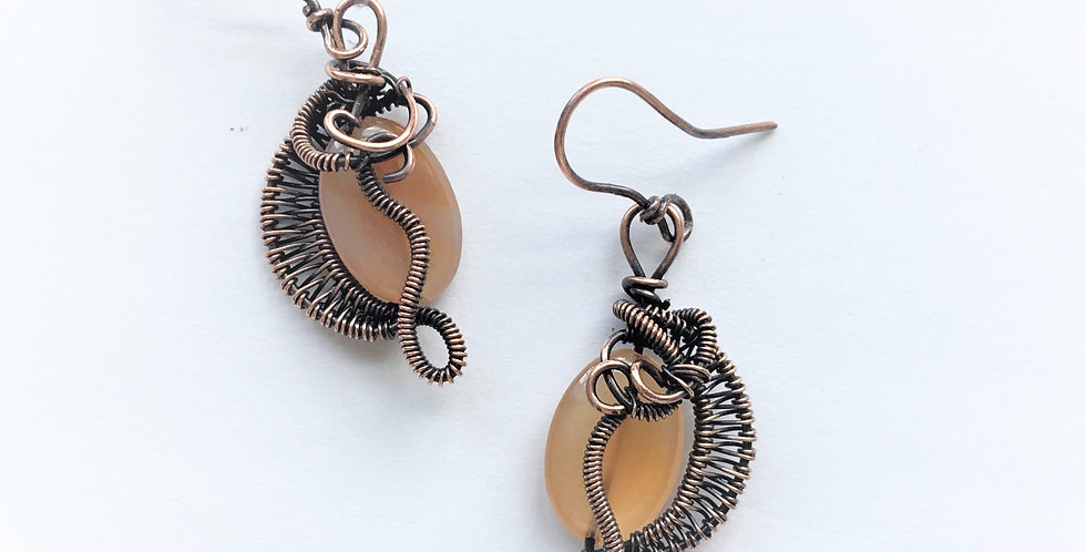 Citrine Ovals in Copper Weave
