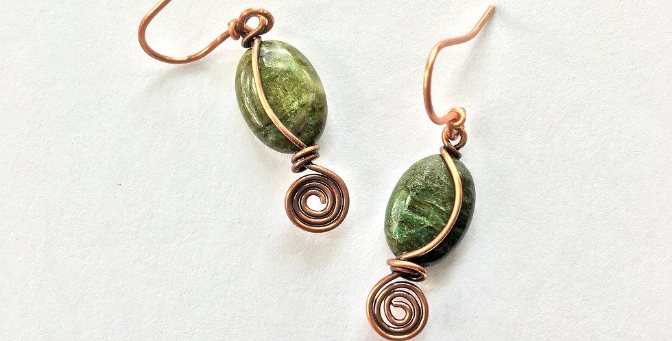 Green Forest Jasper Beads & Spiral