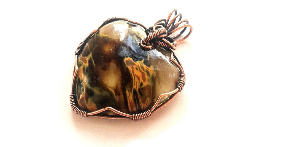 Fiery Glass Heart