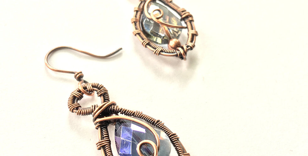 Sparkley Teardrops & Beads in Woven Frame