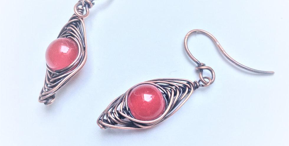 Red Glass in Tight Herringbone Weave