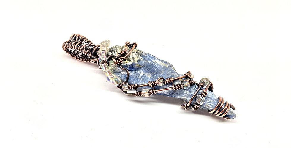 Kyanite Crystal in Antiqued Copper
