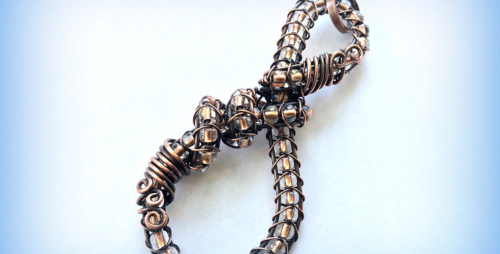 Beaded Copper Knot