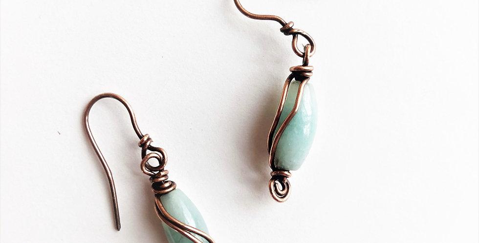 Amazonite in Copper wire