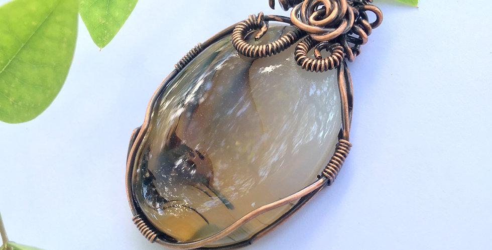 Scenic Dendritic Agate Oval in Copper
