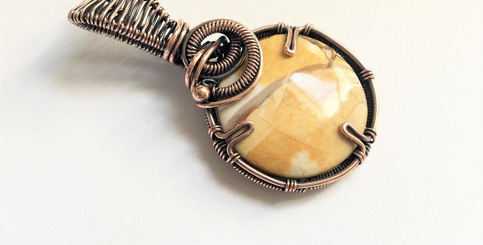 Mookaite Jasper Round Pendant