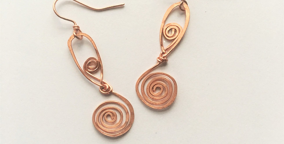 Hammered Spiral & Swirls