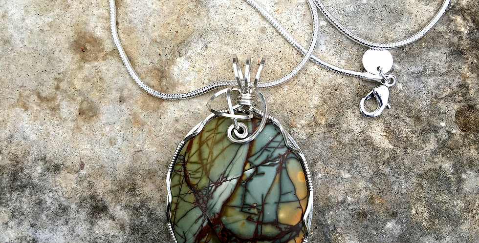 Picasso Jasper in Sterling Silver