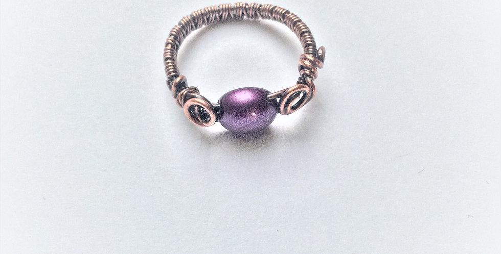 Silky Purple Resin Bead Sz 5
