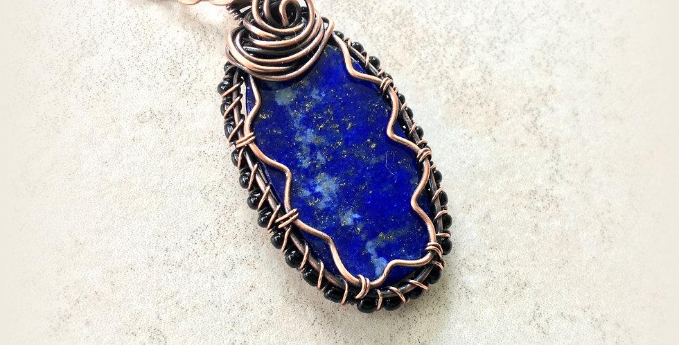 Blue Lapis Lazuli Flat Oval
