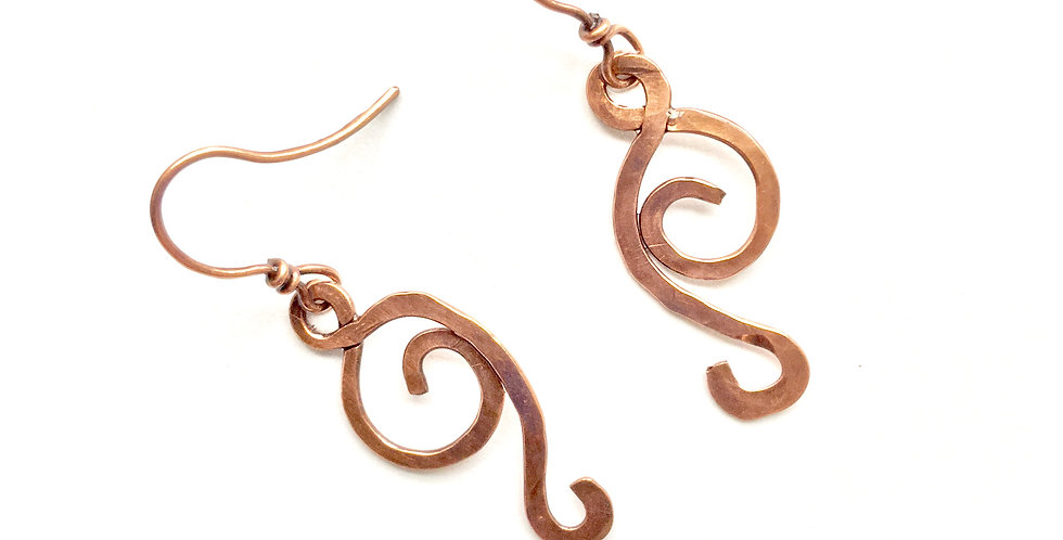 Hammered Copper Twists