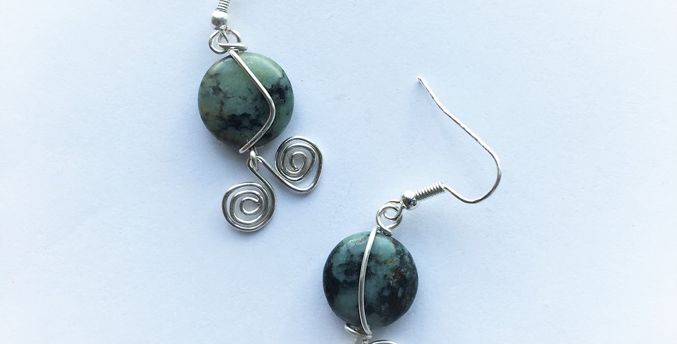 Green Forest Jasper & spirals