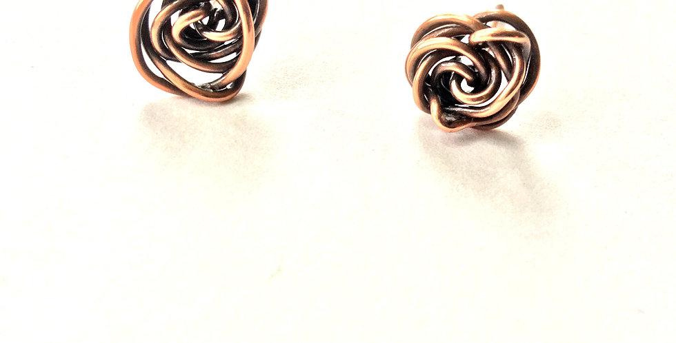 Copper Rosette Studs (med)