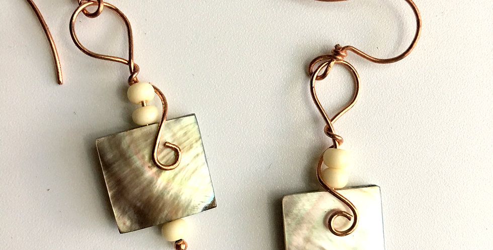 Abalone Squares & Bright Copper