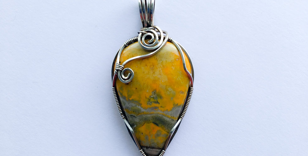 Bumble Bee Jasper in Sterling Silver