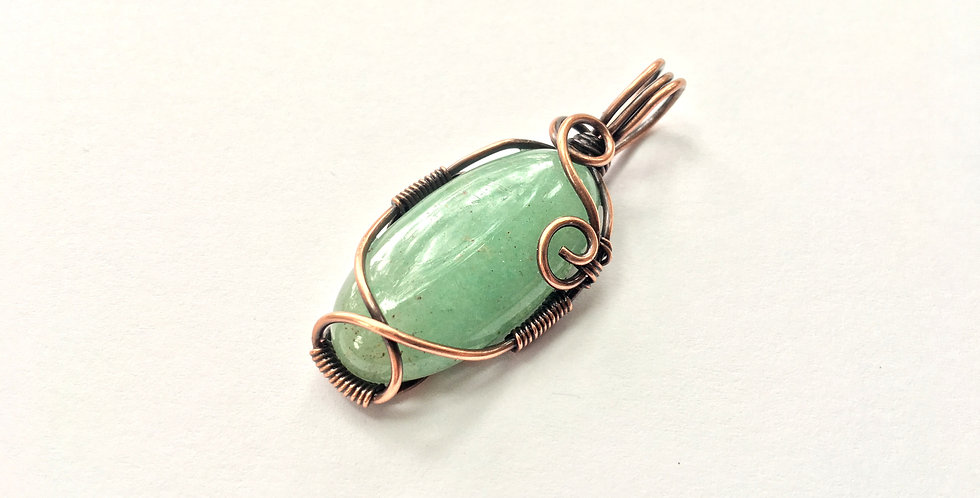 Green Aventurine Narrow Oval