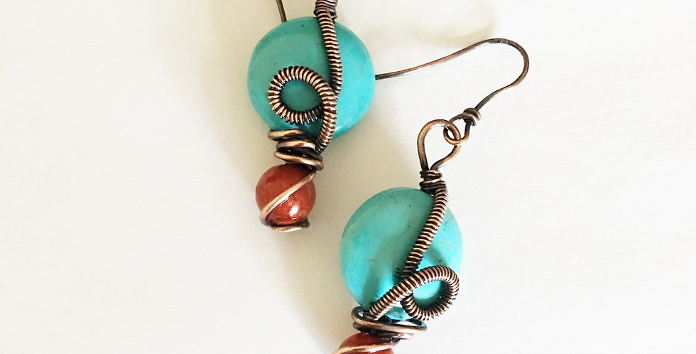 Howlite and Coral