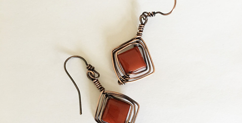 Red Jasper Diamond shapes