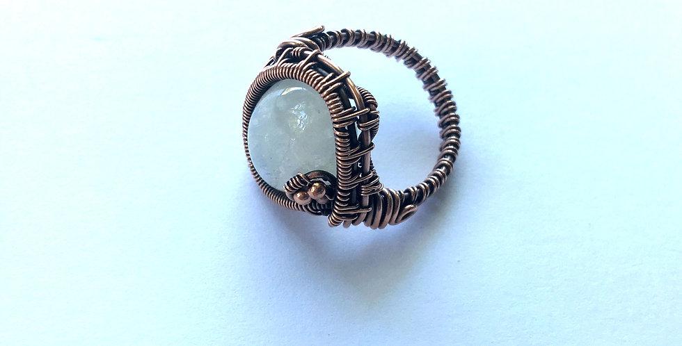 Moonstone Cabochon Ring Sz 7