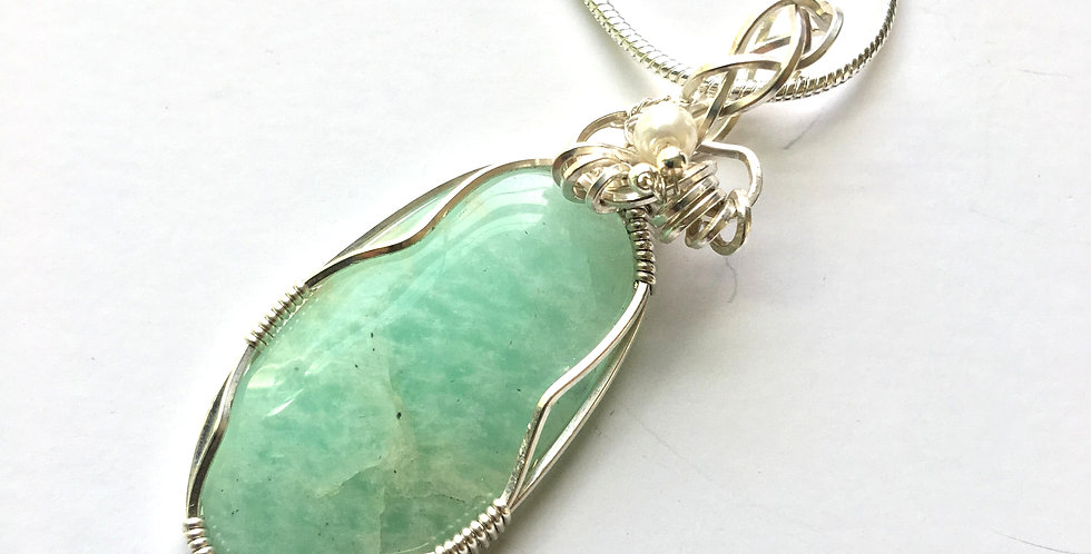 Amazonite Oval in Sterling Silver