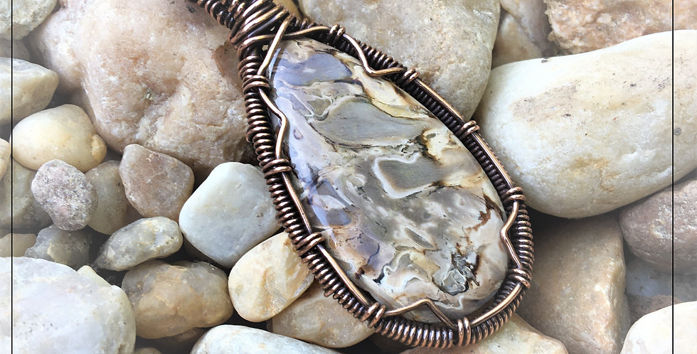 Root Plume Agate