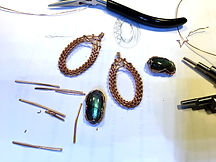 adornments by mae, custome work, wire wrapping, sea sediment jasper